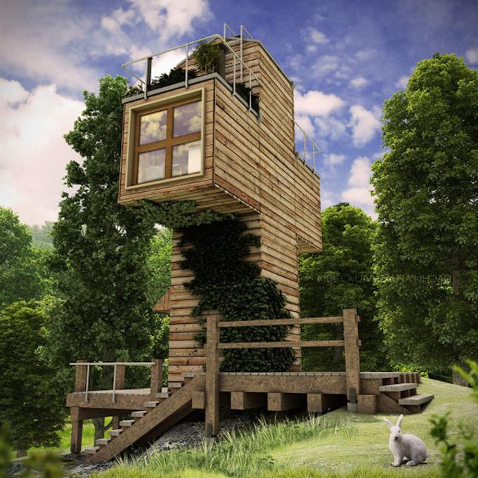 Дом для настоящего отшельника под названием «The Skit»