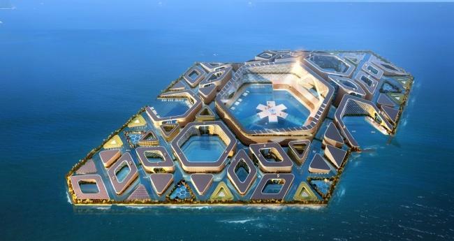 Плавучий город будущего