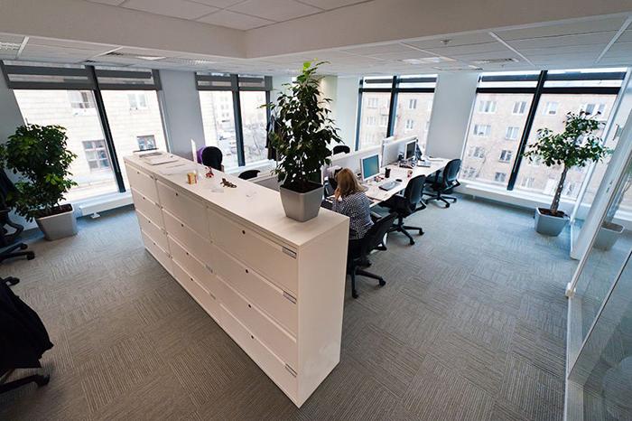 Рабочие места нового офиса