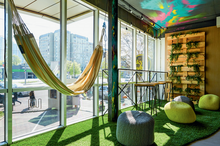 Коворкинг  «Sky Hub» в  Киеве: для работы и релакса