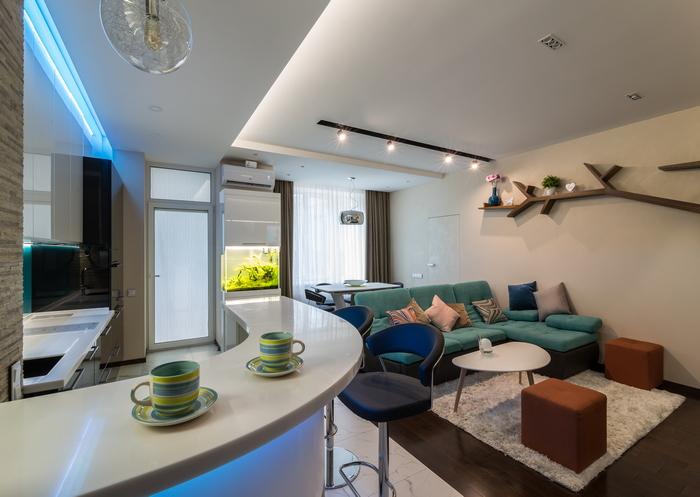 Квартира с элементами морской тематики: радость бытия