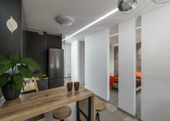 Однокомнатная квартира от Ingvar-Design: эссе для Мариэль