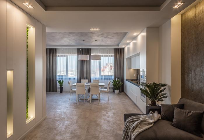 Апартаменты в центре Днепра от L.Studio: два в одном