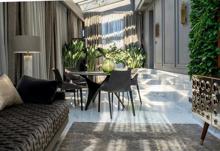 Апартаменты для семейной пары: ботанический сад в квартире