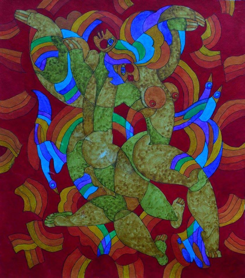 Линия и цвет: ретроспективная выставка Валерия Самохвалова