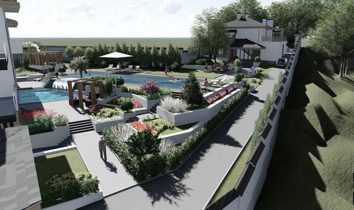 Трехэтажный дом «Villa»: как вписать здание в сложный рельеф