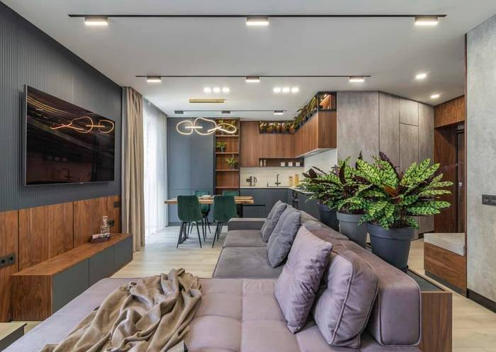 Интерьер в эко-стиле: пример применения IPL-панелей в гостиной
